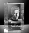 Glazen portret 3D James Dean rechthoek 8x5x5 cm prijs €139,00