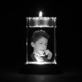 Glazen rechthoek met waxinelicht 2d 8x5x5 cm € 149,00