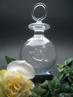 Foetus-Baby in glazen bol als speen. Speen is gevuld met gedestilleerd water € 209,00